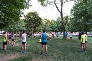 VG running entrenando en la escuela