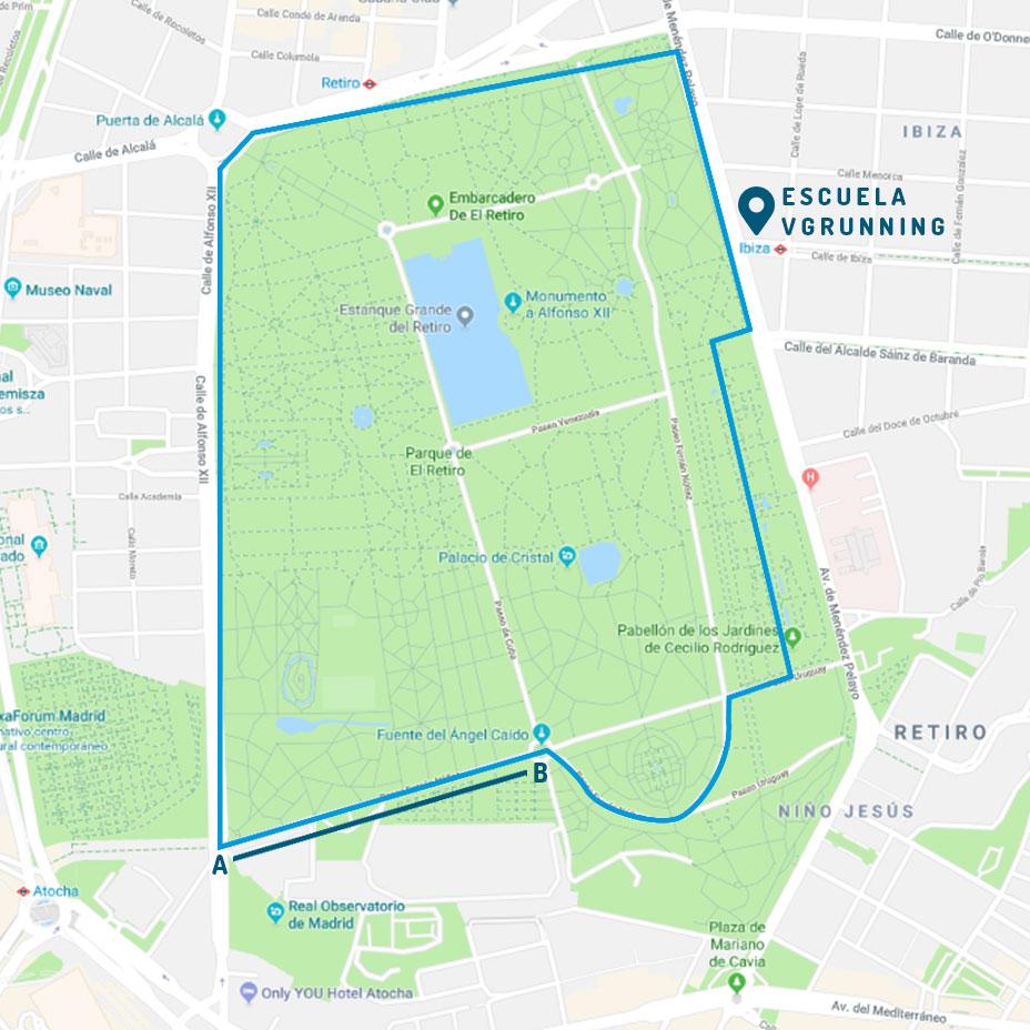 Mapa Parque Del Retiro.Correr En El Parque Del Retiro Madrid Vg Running Club De