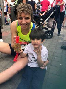 Maratón Madrid -con Diego y Medalla