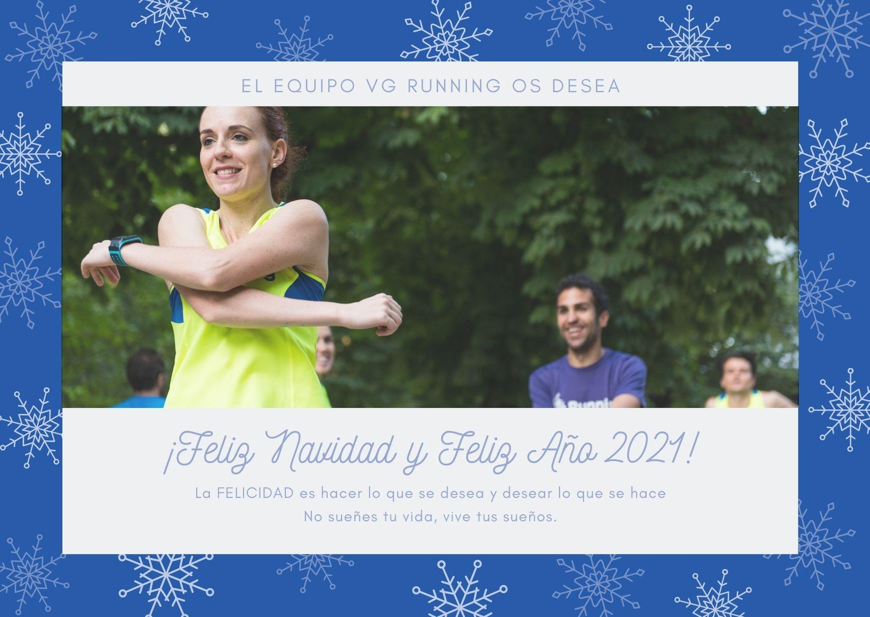 Postal Navidad VG Running